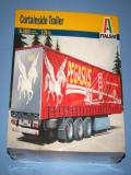 Italeri Triple Axle Curtain Side Trailer. 3809