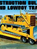 CONSTRUCTION BULLDOZER AND LOWBOY TRAILER, 1218