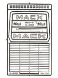 MACK R MODEL GRILL AND EMBLEMS, 2562